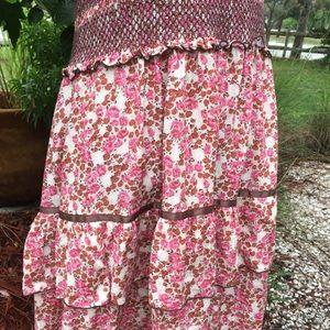 Free People Dresses - Free People Smocked Floral Tiered Dress